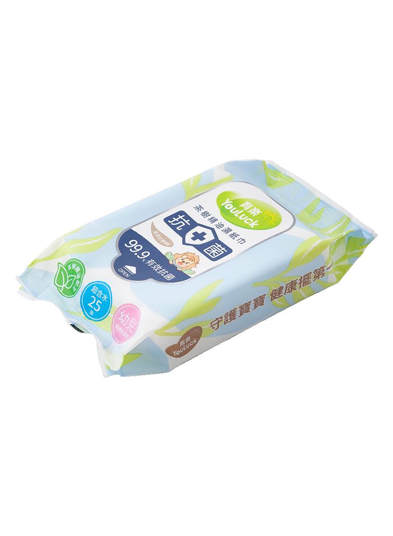 育樂茶樹精油抗菌濕紙巾!